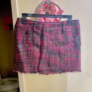 Guess Plaid Black Magenta 90s Clueless Mini Skirt